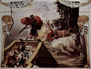 Les bœufs du Soleil volés et assassinés par les compagnons d'Ulysse – Pellegrino Tibaldi – Palazzo Poggi – Bologne